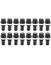 20PCS Black Electrical Panel Mounted Screw Cap Fuse Holder - Socket Case for Glass Tube Fuses 5x20mm