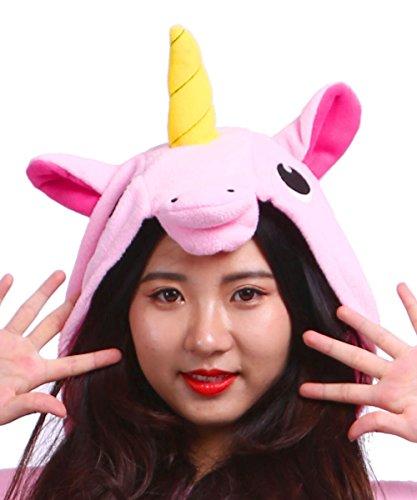 Unisex Kigurumi Unicorno Animale Pigiama Onesies Rosa Adulto qvpqRw6