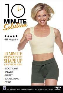 10 MINUTE SOLUTION DVD (5 WORKOUTS TO SHAPE UP YOUR WHOLE BODY - BOOT CAMP; PILATES; BALLET; KICKBOXING; YOGA) (Dvds Cardio Boxing All Kick)