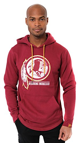 ICER Brands Adult Men Fleece Hoodie Pullover Sweatshirt Embroidered, Team Color, Burg, X-Large ()