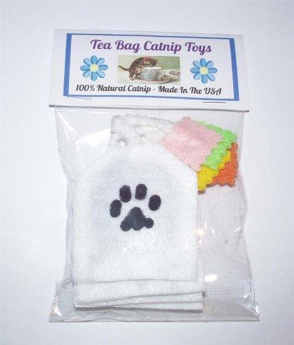 4 Tea Bag Cat Toys with Natural ()