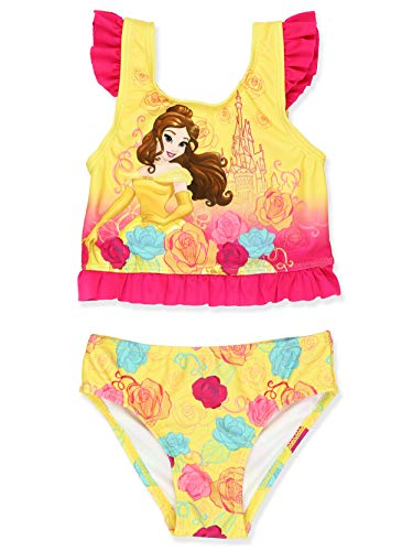 Disney Princess Belle Girls Tankini Swimsuit (3T, ()