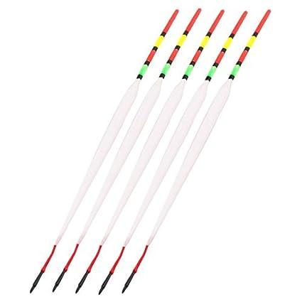 DealMux plástico de la pesca Tackle de herramientas flotador corcho flotador 24cm Longitud 5 piezas multicolores