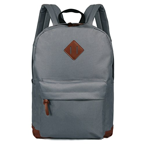School Backpack New Vintage Durable Kids Gray Middle School Bags Casual Lightweight Travel Rucksack Youth Cool Outdoor Hiking Daypack Best Cheap For (X 30 Light Gray Top)