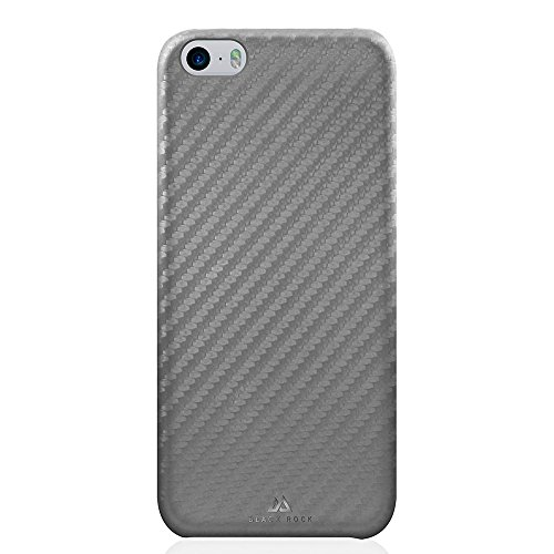 Black Rock Flex Carbon Hülle für Apple iPhone SE – Grau