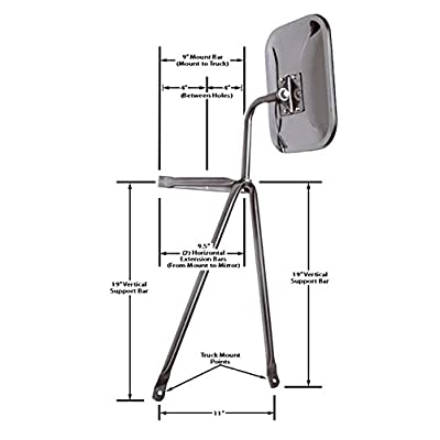 CIPA 45000, Universal Truck & Camper-Large, Low Mount Stainless: Automotive