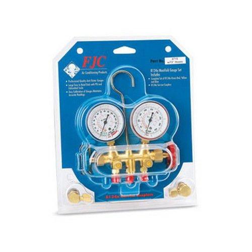 R134A Brass Manifold W/72 HS (FJC-6715B) Inc. FJ6715B