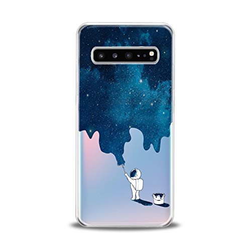 Lex Altern TPU Case for Samsung Galaxy s10 5G Plus 10e Note 9 s9 s8 s7 Clear Blue Watercolor Space Graphic Cover Print Cool Pattern Protective Design Women Soft Silicone Transparent Flexible Present]()
