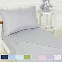 TILLYOU 3-Piece Microfiber Toddler Sheet...