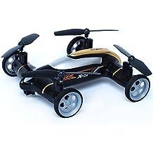 babrit X9Vehículos de coches Quadcopter Car Control remoto Car y RC Quadcopter control remoto Drone voladora Negro