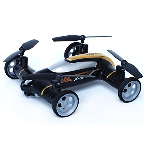 Babrit X9 Flying Cars Quadcopter Car Remote Control Car and RC Quadcopter Remote Control Drone Flying Vehicles Black (Iphone Controlled Car With Camera compare prices)