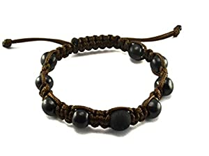 Keled_R® Shamballa Bracelet with Shungite Stone (Brown)