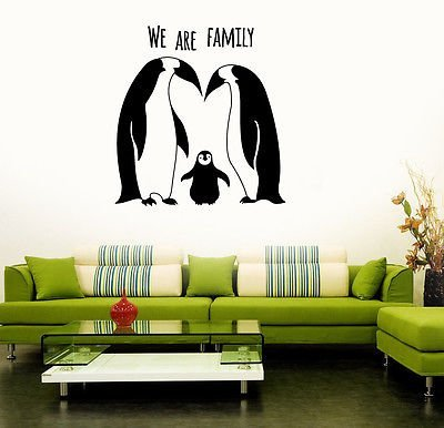 - Penguins Animal Family Cute Room Decor Wall Stickers Vinyl Decal VS133