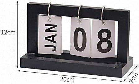 Tischkalender Kalendarien Vintage Holztisch Tischkalender Office Desktop Ornaments Dekorative Kalender Flip (Color : Wood Color)