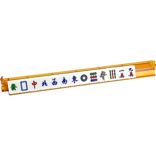 Sterling Games Transparent Orange Plastic Mah Jongg Racks with Pusher Arm~Set of 4