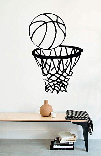 スポーツ壁デカール子供の部屋のバスケットボールボールNetホームビニールインテリアステッカーmk0124   B06W59CYF8
