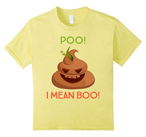 Kids Halloween Poo! I Mean Boo! Funny Costume Novelty Shirt 10 (Mean Girls Halloween Costume Ideas)