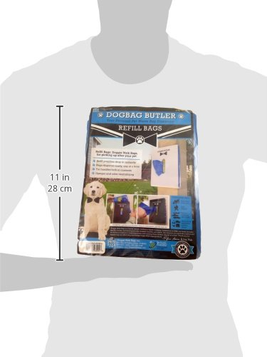 Image of Doggie Walk Bags Dogbag Butler Refill Pouch, 140 Blue Bags