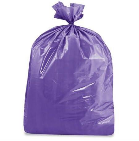Heath Durable Facilities Maintenance Quality Trash Bags 40-45 Gallon, PURPLE