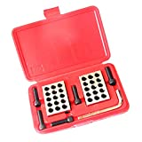 D DOLITY 1 Pair Precision 1-2-3 Blocks 0.0001'' 23 Holes with Storage Case for Toolmakers Machinists, Easy to Use