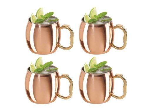 Oggi Moscow Mule Copper Mug, 20-Ounce, Set of 4