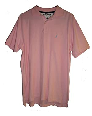 Men's True Deck Solid Polo Shirt, Small, Orchid Pink
