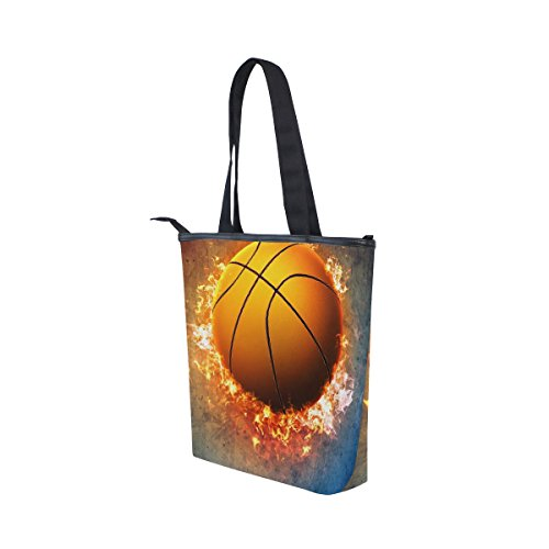 Handbag Flame Bag Womens Blaze Basketball Fire Burning Sport Tote Shoulder MyDaily Canvas x68PwUY