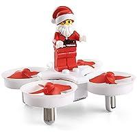 JJRC H67 Flying Santa Claus w/ Christmas Songs RC Quadcopter Drone Headless Mode Toys RTF for Kids Best Gift (White)