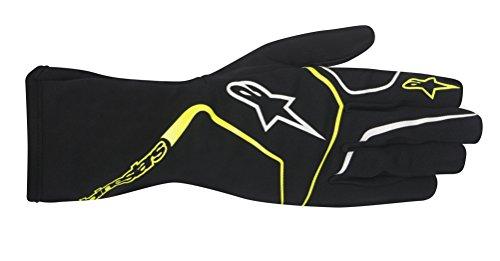 Alpinestars 3552017-155-XL TECH 1-K RACE GLOVES, BLACK/YELLOW FLUORESCENT, SIZE XL (PR)