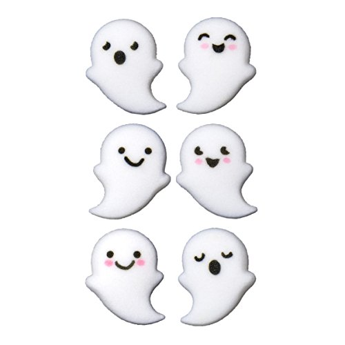 12 Ct. Ghost Buddies Assortment Edible Sugar Dec-Ons Decorations Cupcake Topppers]()