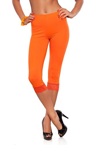 con algodón tamaños Fashion® de todos 4 y 3 los Leggings de Futuro colores Anaranjado trenzado encaje 4WU6Cn