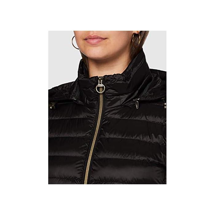 41oWLUeYoXL Abrigo de pluma ultraligero y cálido, para el comienzo de la temporada, femenino y funcional 100% Anual Cierre: Con tapa.