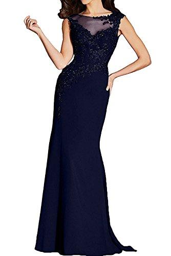 Blau Abendkleider Lang Fuchsia La Dunkel Damen Navy Dunkel Promkleider Braut Marie Brautmutterkleider Etuikleider 77qUY