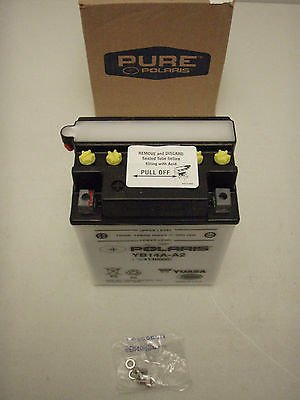 Polaris New OEM ATV/Snowmobile Battery 195 CCA 1985-2012 Yuasa YB14A-A2 12v