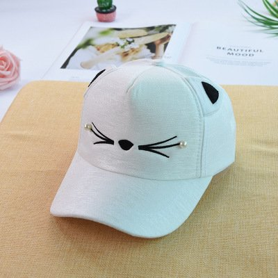 名詞錫残基男子の帽子&キャップ野球帽の春と夏の新しいスタイルの男性と女性の親子野球帽子漫画猫のサンハット韓国語版