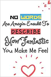 No Words are Amazing Enough to Describe How Fantastic You Make Me Feel: Valentines Day Gifts For Her, Funny Quotes Valentine's Gift, Girlfriend Gift, ... Notebook, Lined Journal for Your Loved Once