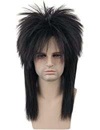 80s Wig Clothes Fashion Halloween Costume Accessory Punk Metal Rocker Mullet Wig for Men Women