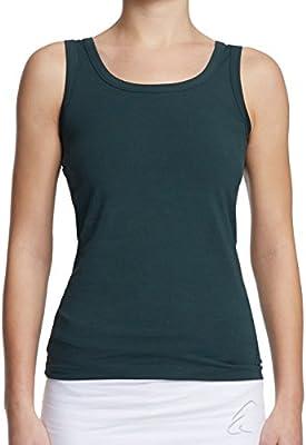 ESPARTO Auron - Camiseta de tirantes para yoga (algodón ecológico), todo el año, Monocolor y moteado., Mujer, color Thymian (verde oscuro)., tamaño medium: Amazon.es: Deportes y aire libre