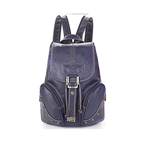 Lycailcy LYC-Lycailcy-A05-5 - Bolso mochila  para mujer Marrón Light Brown(10.2 x 5.9 x 14.2 inches) talla única Purple(10.2 x 5.9 x 14.2 inches)