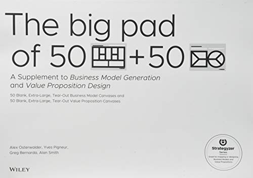 The Big Pad of 50 Blank, Extra-Large Business Model Canvases and 50 Blank, Extra-Large Value Proposition Canvases: A Sup
