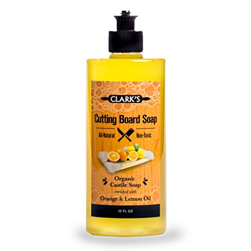 CLARK'S Cutting Board Soap (12oz) | Enriched with Lemon & Orange Oils | Organic & 100% Natural | Butcher Block Cleaner (Cutting Board Cleaner compare prices)
