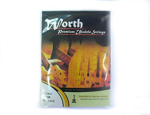 Worth Premium Package Concert/Soprano 23''/21'' Ukulele String Clear ()