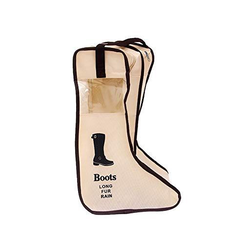 tissé Beige Sac en de Protège Anti Double de humidité Boot Large Visible Botte Tissu Anti Botte Ndier Boot Bags Botte Non Compartiment avec poussière Organisateur AFOvwvaqSx