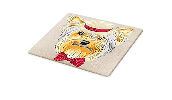 """Yorkshire Terrier Yorkie Dog Cutting Board Tempered Glass Large 11.5/"""" x 15.5/"""""""