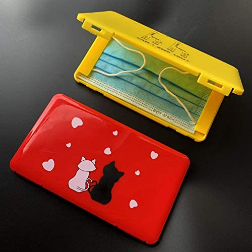 Cajas de Almacenamiento para m/áscara desechable Beuya 2 Piezas Lindas Cajas para mascaras Bolsa port/átil de Almacenamiento de mascarillas