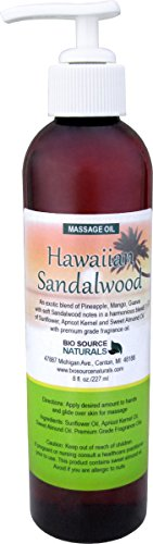 Hawaiian Sandalwood Body Oil / Massage Oil 8 fl. oz. with All Natural Plant Oils