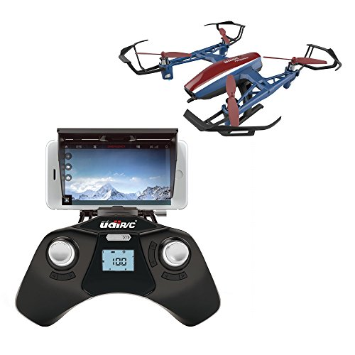 U28W Wifi FPV Drone with HD Camera and Live Video – Remote Control Quadcopter Drone with Altitude Hold – Easy to Fly Drone for Beginners & Expert Pilots – with Extra Battery – Great Fathers Day Gift