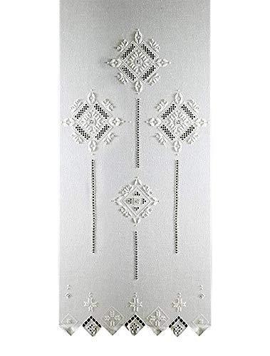 Tende Ricamate A Punto Antico.Zenoni Colombi Coppia Di Tende Ricamate Punto Antico Toscano Made In Italy 45x180cm
