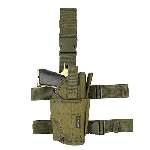 Adjustable Drop Leg Holster, Right Handed Tactical Thigh Pistol Gun Holster Leg Harness (XL)