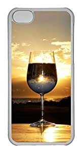 Personalized Custom Sunset for iPhone 5C PC Transparent Case